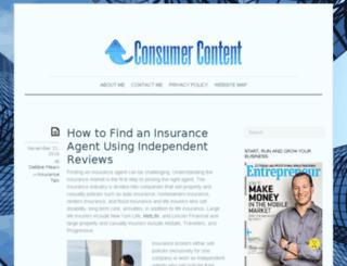 consumer-content.com screenshot