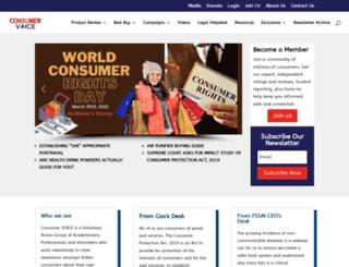 consumer-voice.org screenshot