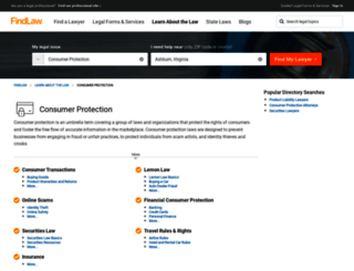 consumer.findlaw.com screenshot