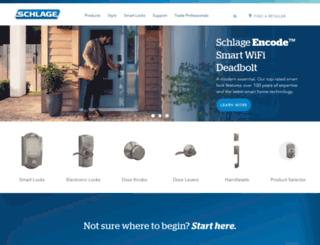 consumer.schlage.com screenshot