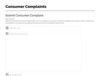 consumercomplaint.in screenshot