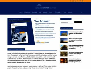 consumerenergyalliance.org screenshot