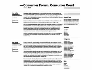 consumerforumblog.wordpress.com screenshot