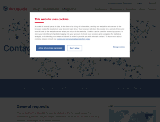 contact.airliquide.com screenshot