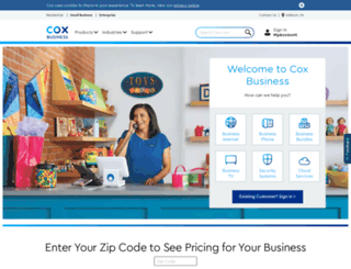 contact.coxbusiness.com screenshot