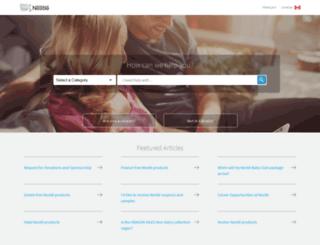 contact.nestle.ca screenshot