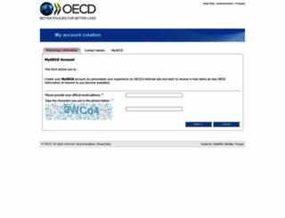 contact.oecd.org screenshot