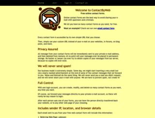 contactbyweb.com screenshot