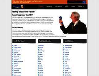 contacthelp.com screenshot