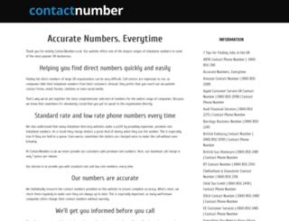 contactnumber.co.uk screenshot