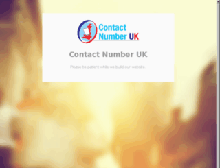contactnumberuk.com screenshot
