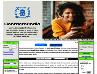 contactofindia.com screenshot