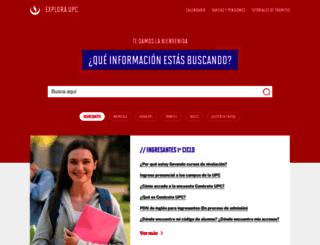 contactoweb.upc.edu.pe screenshot