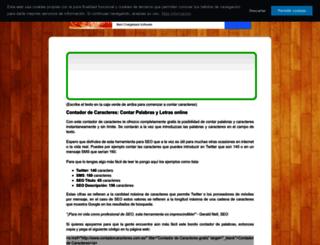 contadorcaracteres.com.es screenshot