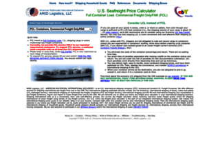 containers.internationalshippingusa.com screenshot