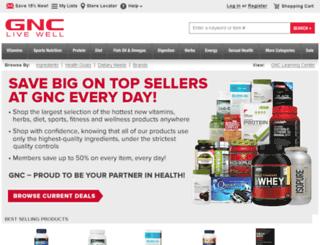 content.gnc.com screenshot