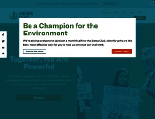 content.sierraclub.org screenshot