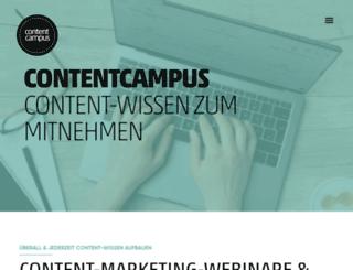 contentcampus.at screenshot