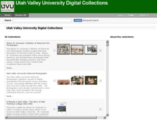 contentdm.uvu.edu screenshot