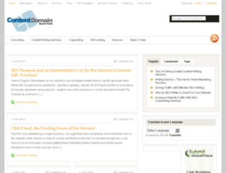 contentdomain.com screenshot