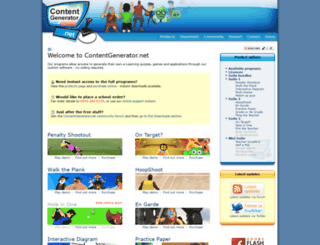 contentgenerator.net screenshot