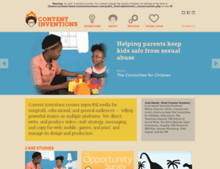 contentinventions.com screenshot