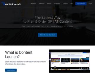 contentlaunch.com screenshot