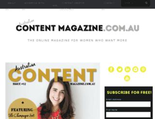 contentmagazine.com.au screenshot