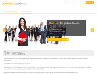 contentmaximus.com screenshot
