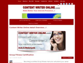 contentwriteronline.com screenshot