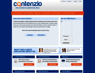 contenzio.com screenshot