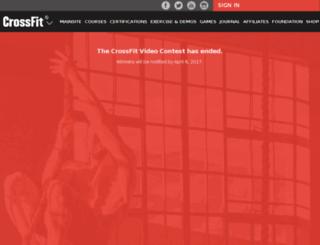 contest.crossfit.com screenshot