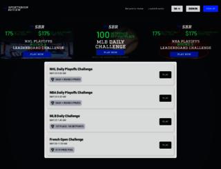 contests.sportsbookreview.com screenshot