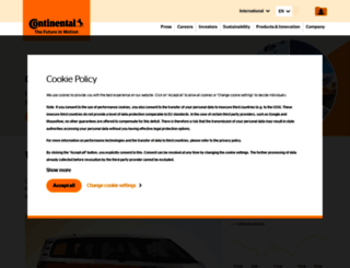 continental.com screenshot