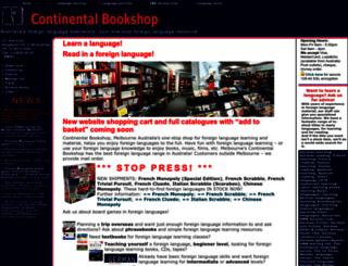 continentalbookshop.com screenshot