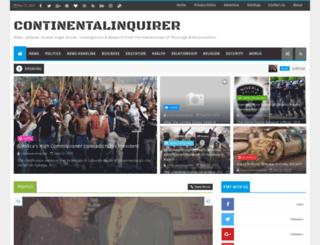 continentalinquirer.blogspot.com screenshot
