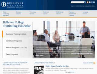 continuingeducation.bellevuecollege.edu screenshot