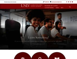 continuingeducation.unlv.edu screenshot