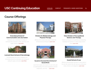 continuingeducation.usc.edu screenshot