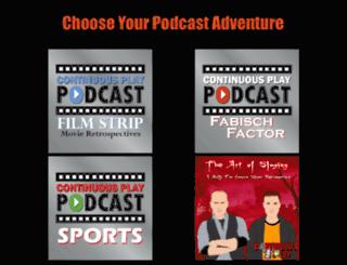 continuousplaypodcast.com screenshot