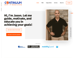 continuumfitness.net screenshot