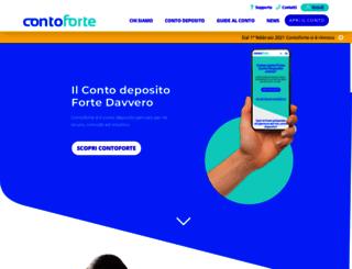 contoforte.it screenshot