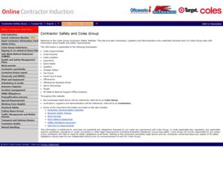 contractor.colesgroup.com.au screenshot