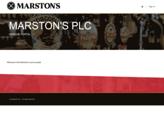 contractorportal.marstons.co.uk screenshot