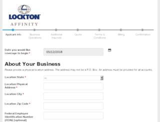 contractors.locktonaffinity.com screenshot