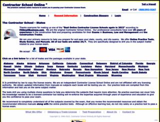contractorschoolonline.com screenshot