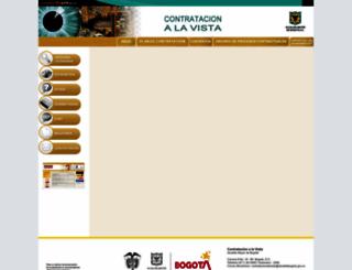 contratacionbogota.gov.co screenshot