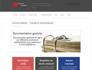 contratquebec.com screenshot