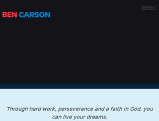 contribute.bencarson.com screenshot