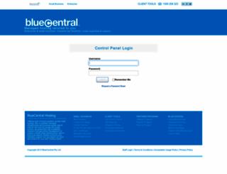 control.bluecentral.com screenshot